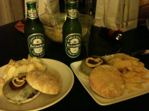 Burgers and Heinekens