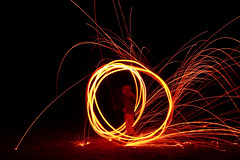 Ring of Fire (< Nick Friend >) Tags: lightpainting fire spin australia nsw sparks whisk lugarno steelwool jezza dryplain