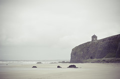 . (joannablu kitchener) Tags: ocean uk cliff cold beach beautiful newcastle 50mm nikon rocks moody gloomy windy chapel rainy northernireland nikkor f18 d90 joannablu kitchenerphotography
