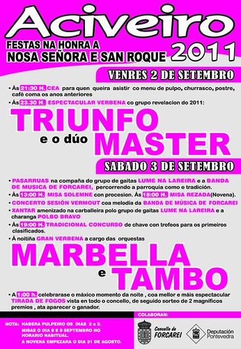 Forcarei 2011 - Festas de San Roque en Aciveiro - cartel