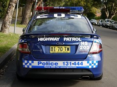 HS 203 Falcon XR6T (Highway Patrol Images) Tags: blue red ford car ss falcon commodore highwaypatrol xr6t anpr xr6turbo nswpoliceforce harboursidehighwaypatrol