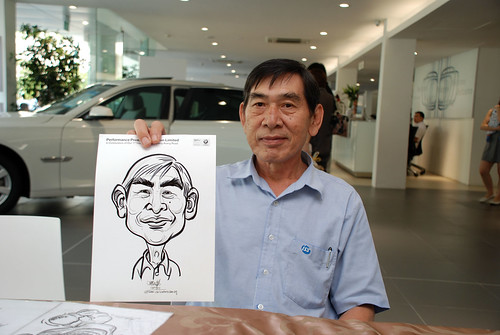 Caricature live sketching for Performance Premium Selection first year anniversary - day 2 - 18