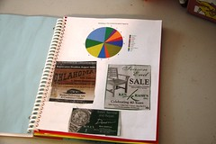 advertising notebook newspaper graph
