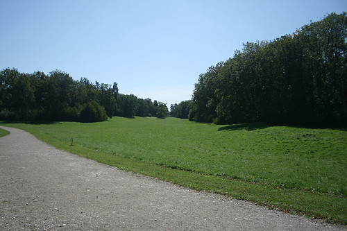 Sichtachse südlich Badenburg - Schlosspark Nymphenburg