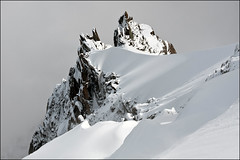 aiguille du midi (heavenuphere) Tags: snow france mountains alps clouds alpes landscape 1 climbing alpine chamonix montblanc massif aiguilledumidi hautesavoie rhnealpes chamonixmontblanc tlphriquedelaiguilledumidi