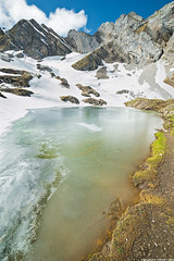 Lac de Tardevant - Chaine Des Aravis - Haute-Savoie (romvi) Tags: lake snow france mountains alps ice clouds alpes de lago nikon europe altitude lac wideangle des villa summit neige nuage 74 romain f28 glace chaine montagnes massif aravis glac hautesavoie sommet combe 14mm grandangle samyang tardevant d700 romainvilla chainedesaravis romvi samyang14mmf28 lacdetardevant ttedepaccaly