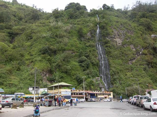 Cascada de la Virgen in Banos Ecuador