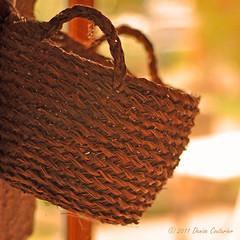 Hanging (DeniseJC) Tags: france kitchen basket hanging vende earlymorninglight hbw steradgondedesnoyers inmybrotherinlaws400yearoldhome