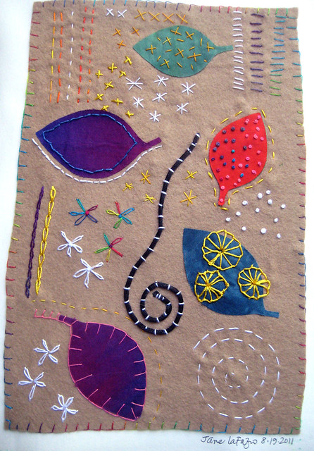 journal page stitches