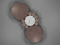 Fibonacci Circle Packing (fdecomite) Tags: circle packing fibonacci math povray