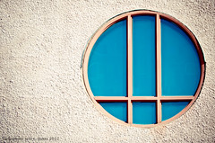 365 arlophotochallenge 251 / 365 - Recondite (Arlo Bates) Tags: blue canada glass lens nikon winnipeg stainedglass manitoba stucco d90 digitalcrossprocessing recondite nikond90 365photoproject d7000 westendwindow afsdxnikkor18200mmf3556 nikond7000 365arlophotochallenge horizonslearningcentre