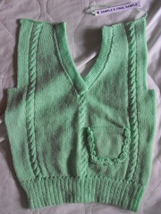 Cable front of vest (phil_1987) Tags: reed silver knitting 4 machine course yarn correspondence ply knitmaster