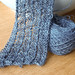 Grey lace scarf