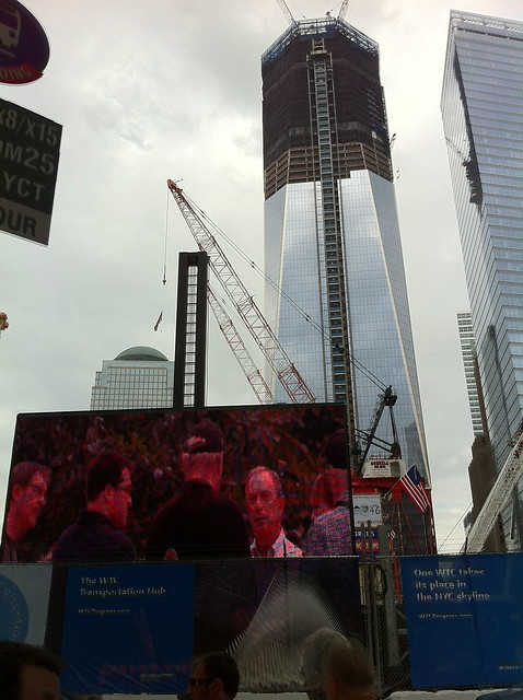 A scene from a walk to the World Trade Center September 10, 2011