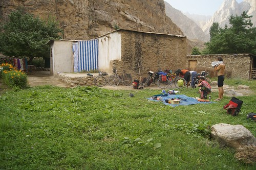 The Tajiks who let us camp in their back yard.