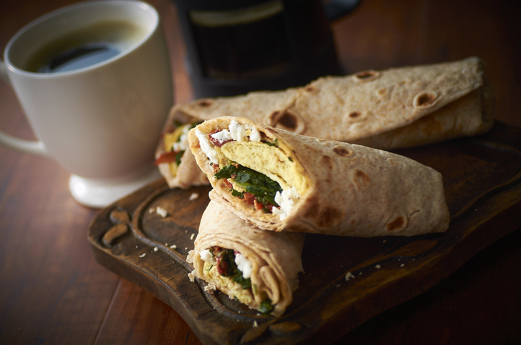 Spinach, Feta and Egg Wrap