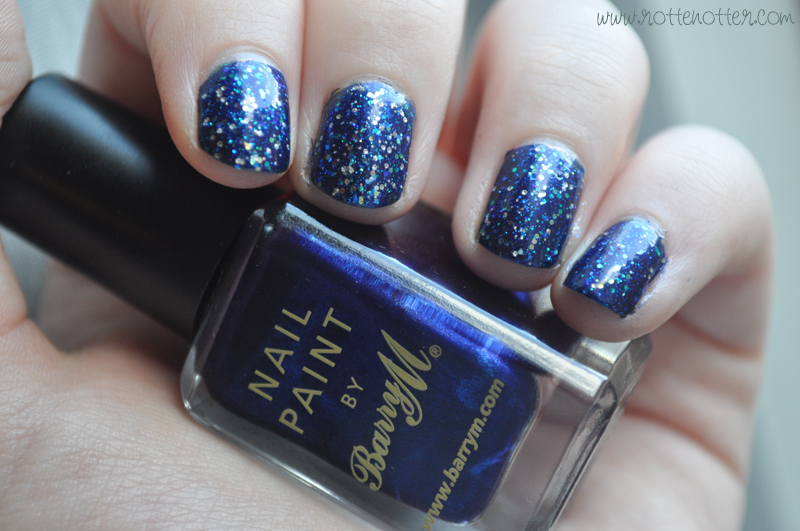 barry m navy nail polish opi last friday night notd layered 02