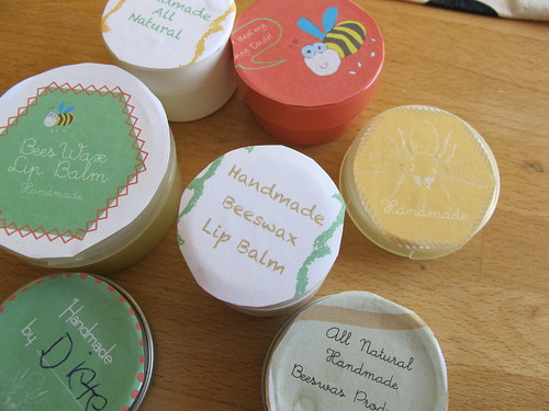 beeswax lipbalms