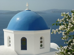 Escape Travel Consultant Sarah Wilson Cruising Santorini