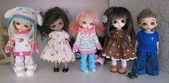 The littles :) (*alexisbears*) Tags: noah white whimsy lily grace sugar sp belle hybrid sundae ante piki whittaker lati pukipuki chocopuki