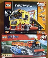LEGO - TRU Sale BOGO 1/2 off! (Slayerdread) Tags: blue red car yellow train sale wand harry frog ron technic blond owl motor cart