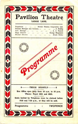 Pavilion Theatre, Lodge Lane, Liverpool, Program, February 1944