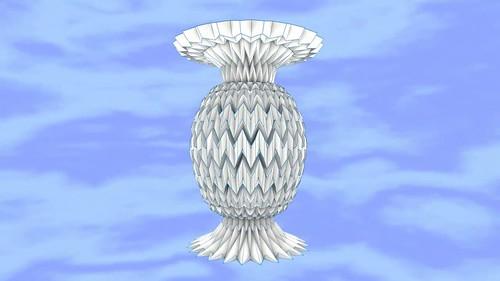 ORIGAMI FLORERO 3D 2