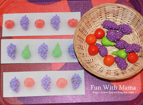 Fruit Patterning using Printables from Playing House (Photo from Fun with Mama)