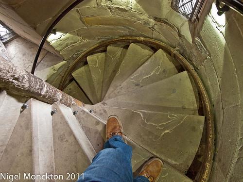 Spiral Staircase, Warwick castle by nmonckton