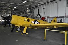 T-6 SNJ Texan (warriorwoman531) Tags: california museum sandiego military jets wwii navy ussmidway fighterplanes snjtexan