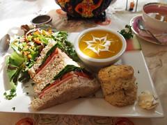 lunch @ Magic Rolling Pin (buttercup caren) Tags: lunch soup yum tea sandwich biscuit tearoom magicrollingpin