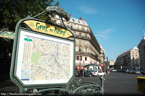 Gare du Nord Signage