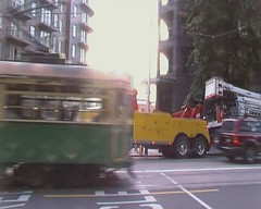 Filmed by secret squirrel (secret squirrel6) Tags: rescue yellow traffic awesome tram melbourne busy videos towtruck recovery chapelstreet kenworth moderntowing secretsquirrel6truckphotos
