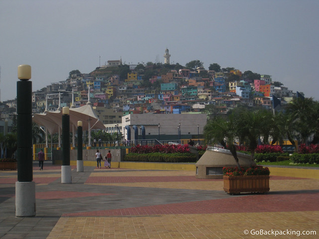 Las Penas as seen from the Malecon, Guayaquil