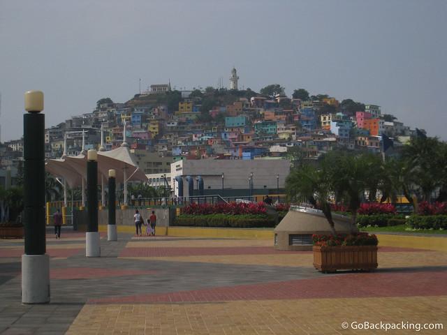 The colorful Las Penas neighborhood