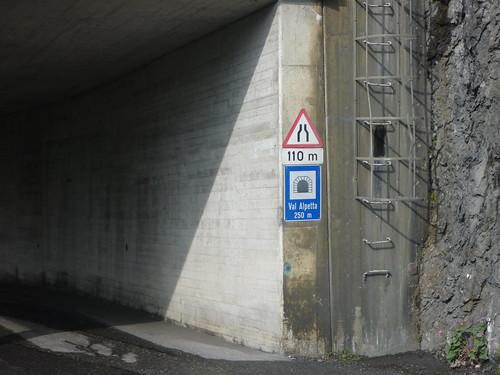 Compatsch tunnel Val Alpetta 250 meter