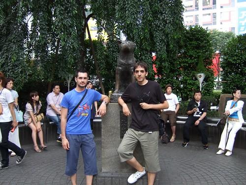 0113 - 07.07.2007 - Shibuya estatua Hachiko