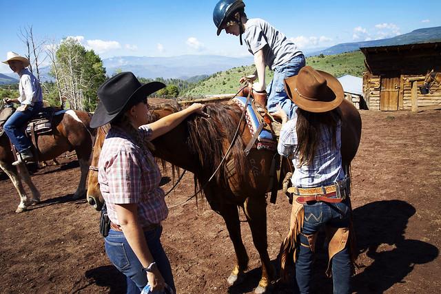 Black Mountain Colorado Dude Ranch boy horse