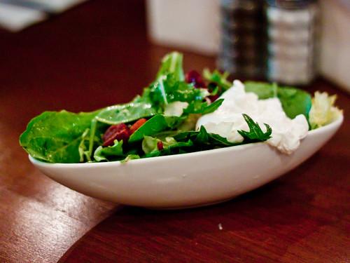 Yeah I ate a salad...