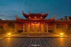 Entrance to the Monastery. (Reggie Wan) Tags: temple evening singapore asia southeastasia entrance monastery bluehour sonya850 sonyalpha850