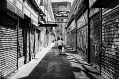 august, madrid is closed (Fabio McCaree) Tags: madrid street summer film analog calle spain nikon f100 velvia f2 nikkor 50 35 2011