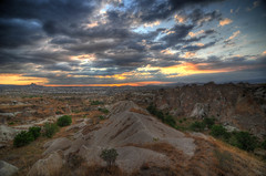 sunset with rocks (misterzach83) Tags: turkey landscape hdr cappadocia goreme d3s