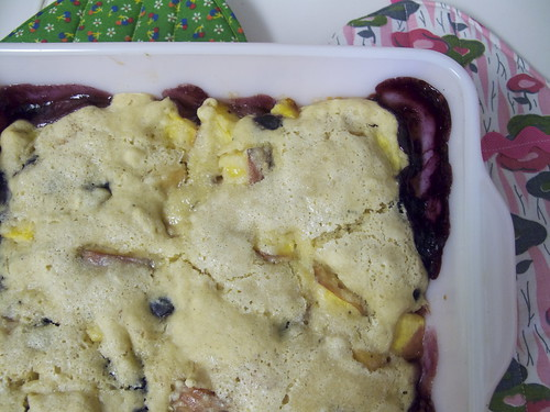 Peach Blueberry Cobbler 2