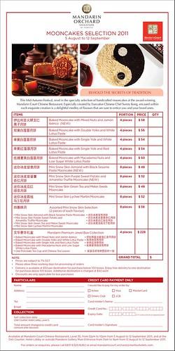 Mandarin Orchard Mooncake Order Form 2011