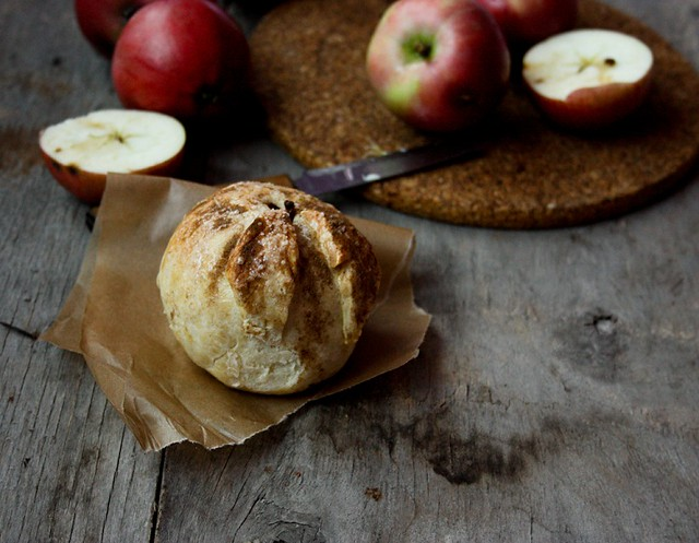 Baked apple in pastry