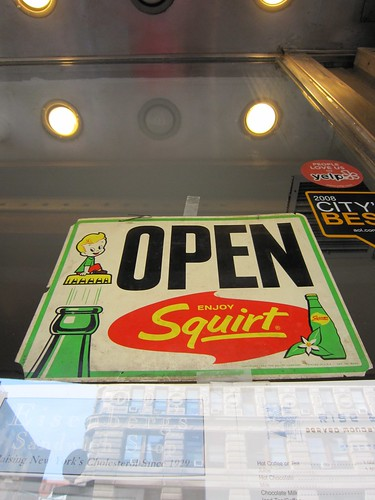 Eisenberg's Sandwich Shop Open Squirt Sign