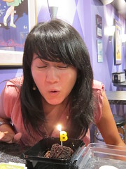 Blowing out my candle (chibbitank) Tags: birthday camera love cake chocolate august betty gifts celebrate chibbi