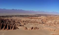 Erotioned Salt Mountain Range and The Andes Range - San Pedro de Atacama - Chile (Bluebelier - Loves Juliet) Tags: chile southamerica desert hiking dry hike atacama desierto dried excursion sudamerica desiertodeatacama cordilleradelasal