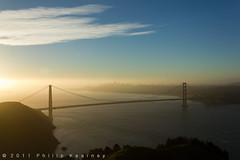 San Francisco, sunrise (Philip Kearney) Tags: sanfrancisco california bridge usa sunrise iso100 unitedstatesofamerica f90 goldengatebridge northamerica sanfranciscobay kearney philip philipkearney philipkearney