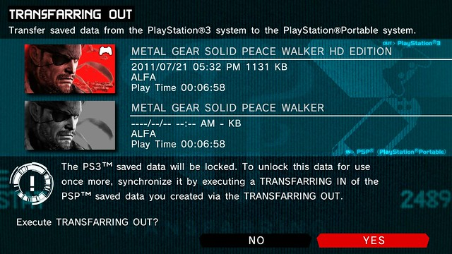 Metal Gear Solid: Peace Walker HD - Transfarring
